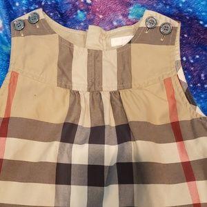 Burberry Girls Cotton Checked Dress